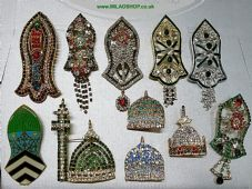 1 x Nalain pak & Dome (NEW) Eid milad badge brooch pin High quality for Imama/scarf